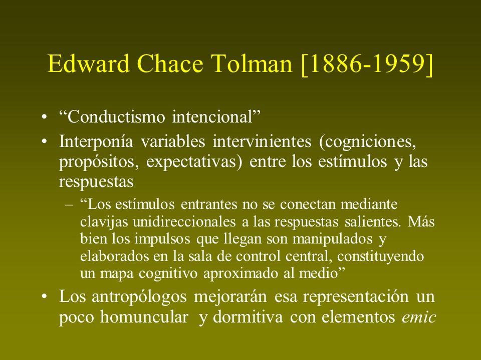 Edward Chace Tolman [1886-1959]